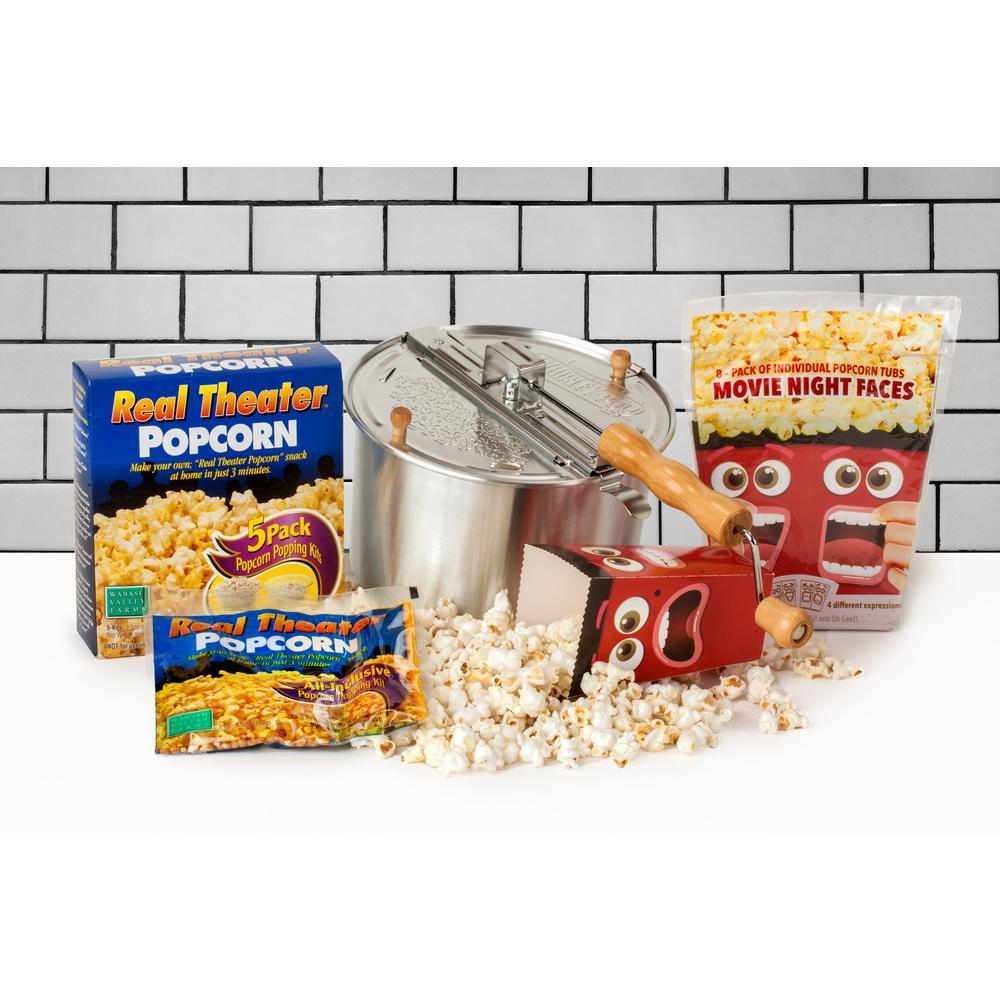 6 Qt. Aluminum Popcorn Popper Set (3-Piece)
