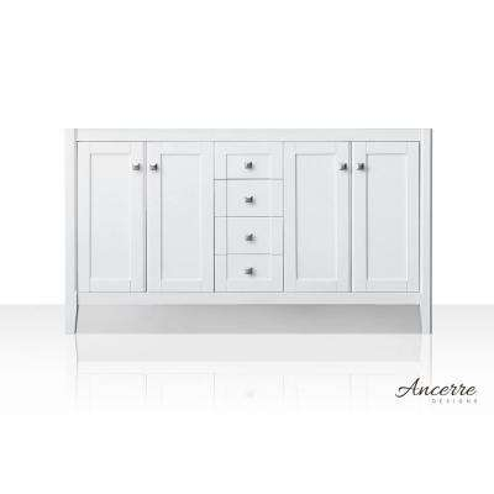 Shelton 59 in. W x 21 in. D Vanity Cabinet Only in White