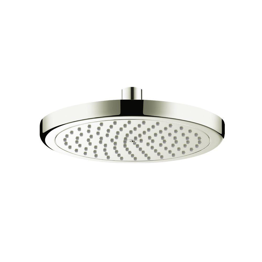 Hansgrohe Croma 220 1-Spray 9 in. Showerhead in Brushed Nickel ...