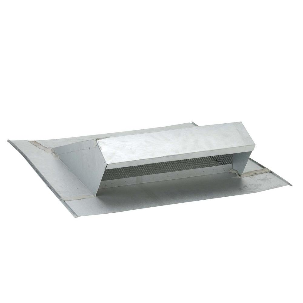 Gibraltar Building Products 26 in. x 6 in. Galvanized Low Profile Roof Dormer Vent in Mill Finish