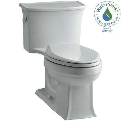 Archer 1-piece 1.28 GPF Single Flush Elongated Toilet in Ice Grey