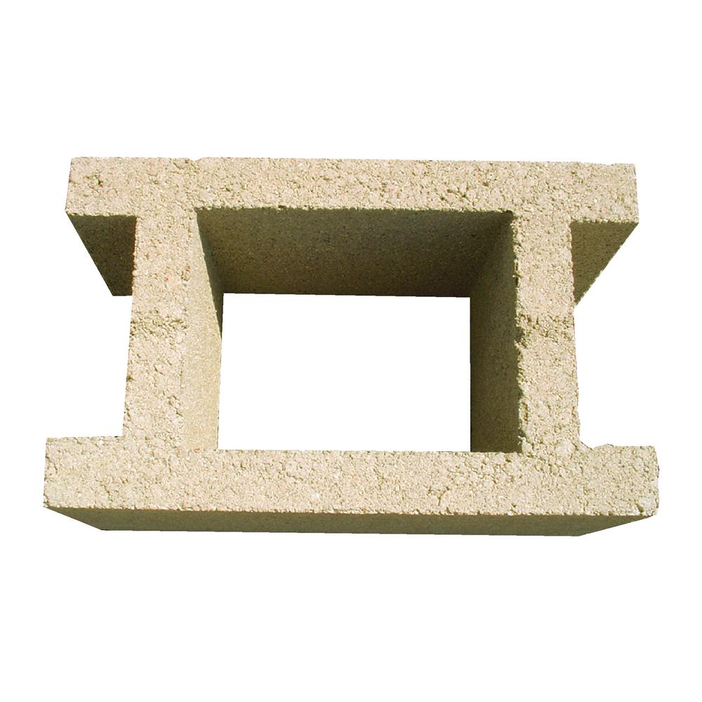 Oldcastle 10 in. x 8 in. x 16 in. Valley Tan Concrete H block