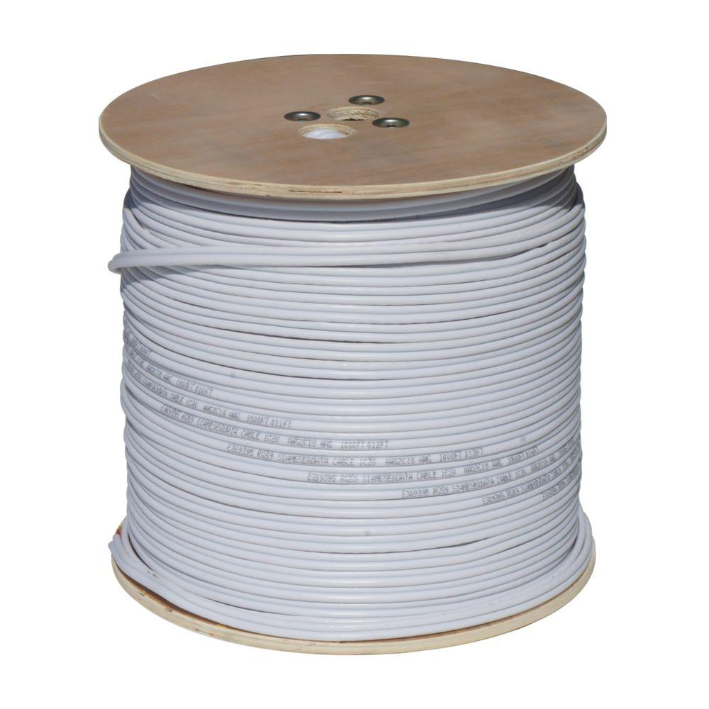 1000 ft. 18-2 RG59 Closed Circuit TV Coaxial Cable - White