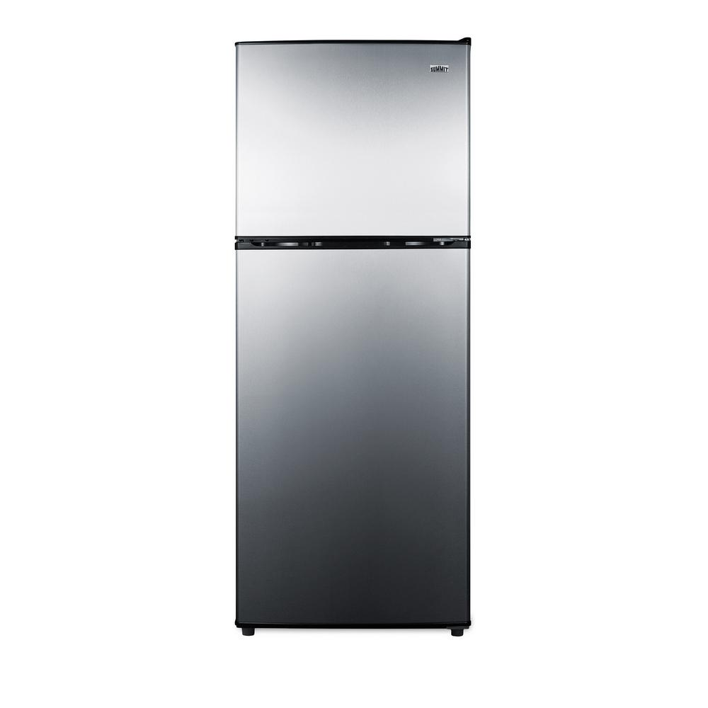 Summit Appliance 7.1 cu. ft. Top Freezer Refrigerator in Stainless Steel,  Counter Depth