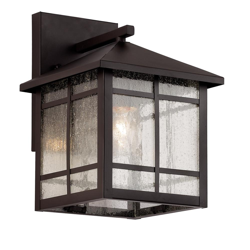 Bel Air Lighting Capistrano 1-Light Rubbed Oil Bronze Outdoor Wall Lantern