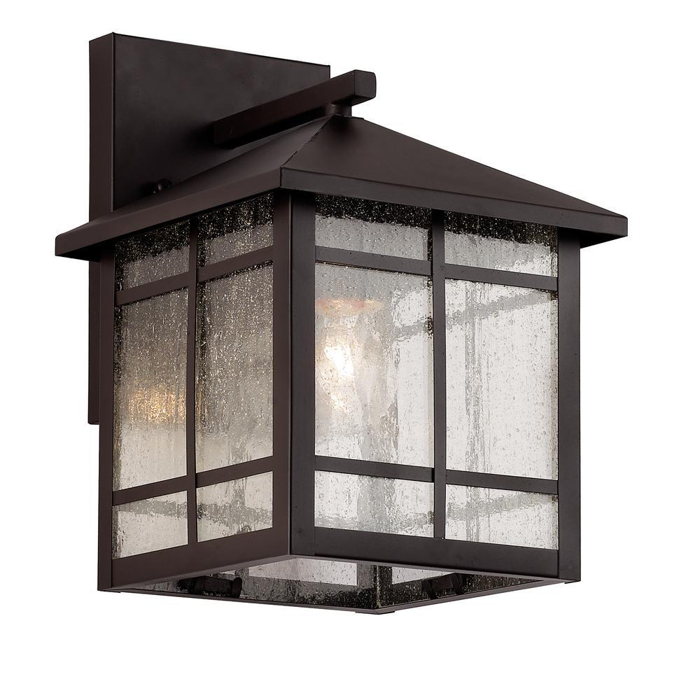 Bel Air Lighting Capistrano 1-Light Rubbed Oil Bronze Outdoor Wall Lantern