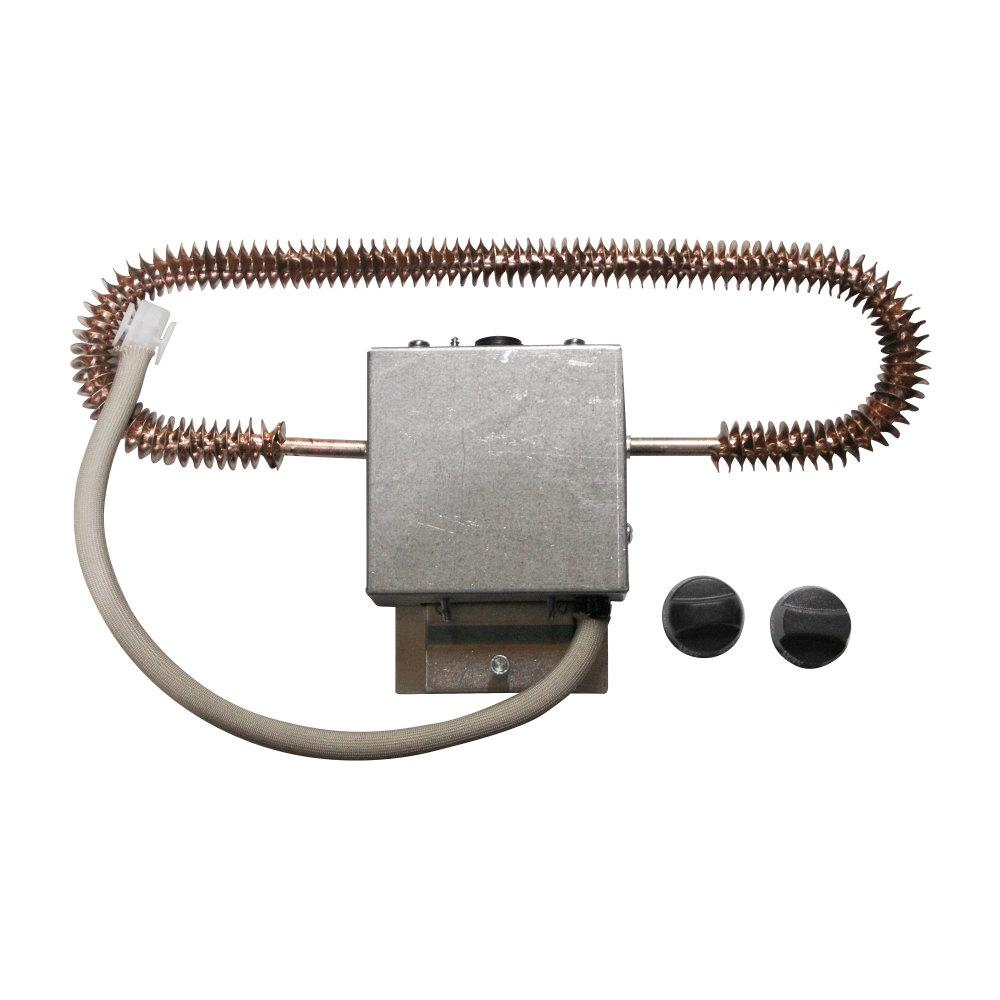 Coleman Electric Heat Kit for Heat-Ready Ceiling Assemblies 9233A4551 for All -Mach Air Conditioners Coleman-Mach's 70-8897 is an Electric Heat Kit for all Coleman-Mach air conditioners with a heat-ready ceiling assembly. This kit was designed for all Coleman-Mach air conditioners and heat pumps. However, it is not compatible with the Mach 8 air conditioner. This heat kit has a 5,600 BTU capacity and a limited 2-year manufacturer warranty.