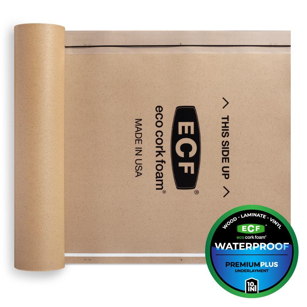 75 sq. ft. 3 ft. x 25 ft. x 3.2 mm Waterproof Premium Plus 10-in-1 Underlayment for Vinyl, Laminate, Engineered Floors