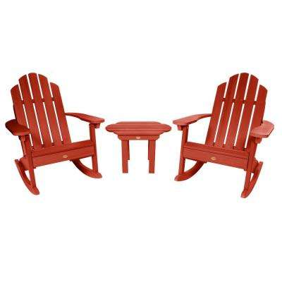 Classic Wesport Rustic Red 3-Piece Recycled Plastic Patio Conversation Set