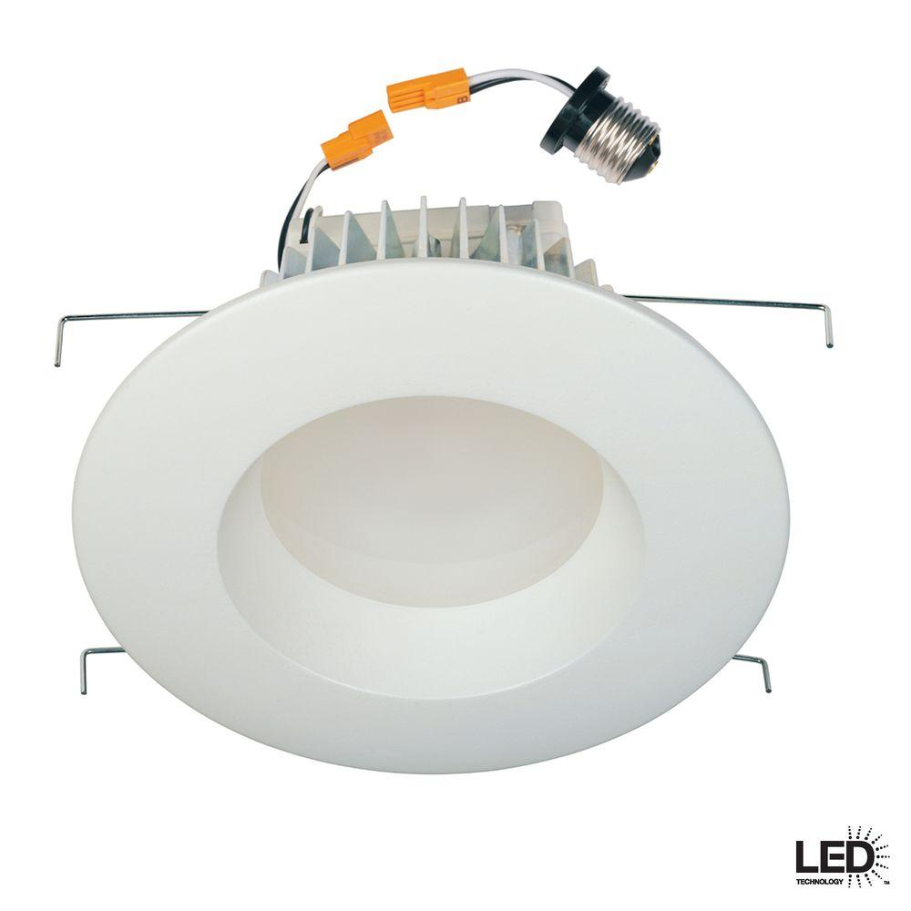 Commercial Electric 6 in. Recessed White LED Retrofit Trim-DISCONTINUED