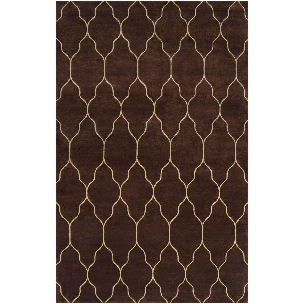 Artistic Weavers Battle Chocolate 5 ft. x 8 ft. Area Rug