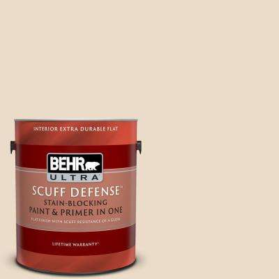 1 gal. #N260-1 Vanilla Mocha Extra Durable Flat Interior Paint and Primer in One