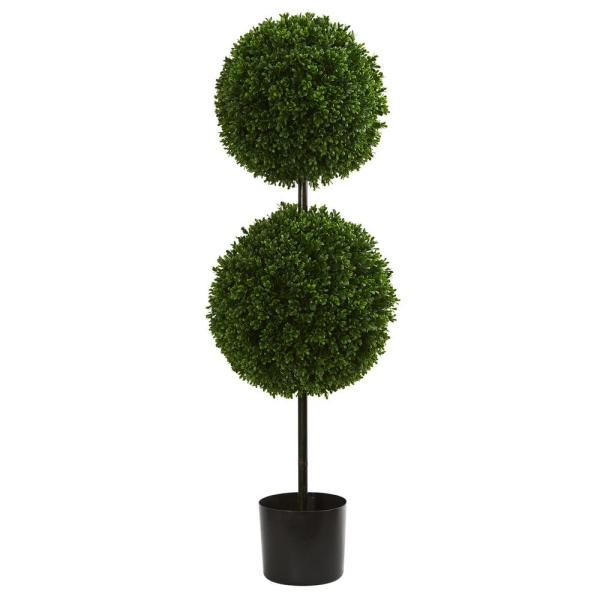 Uv Resistant Indoor Outdoor Boxwood Double Ball Artificial Topiary Tree