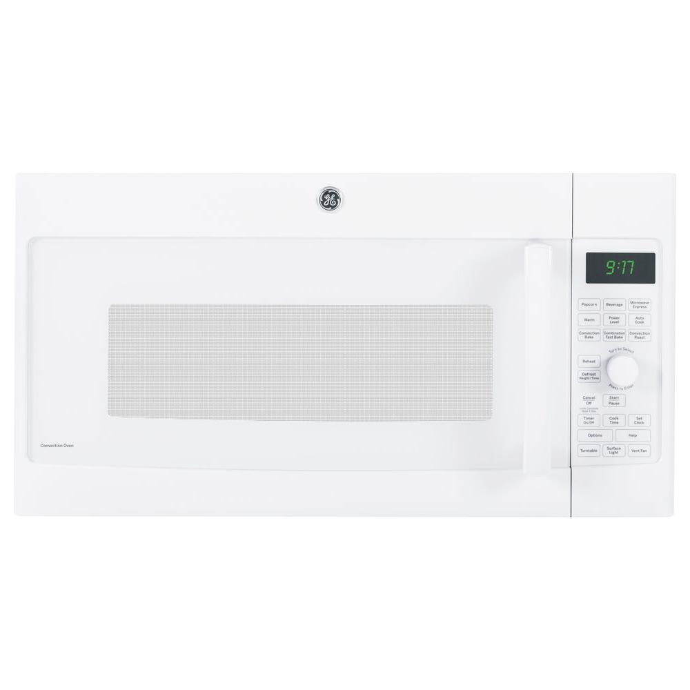 GE Profile 1.7 cu. ft. Over the Range Convection Microwave in White with Sensor Cooking