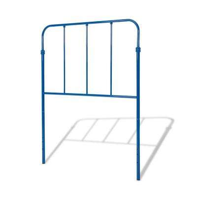 Nolan Cobalt Blue Full Headboard with Metal Duo Panels