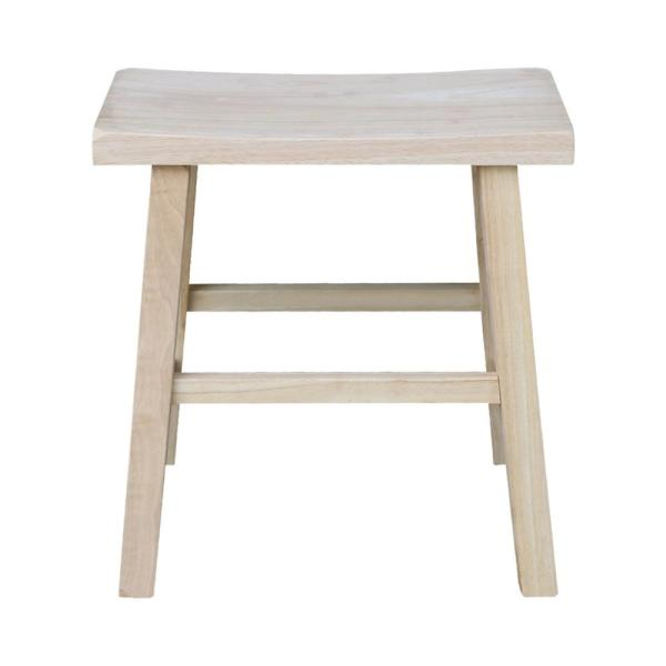 Unfinished Wood Bar Stool