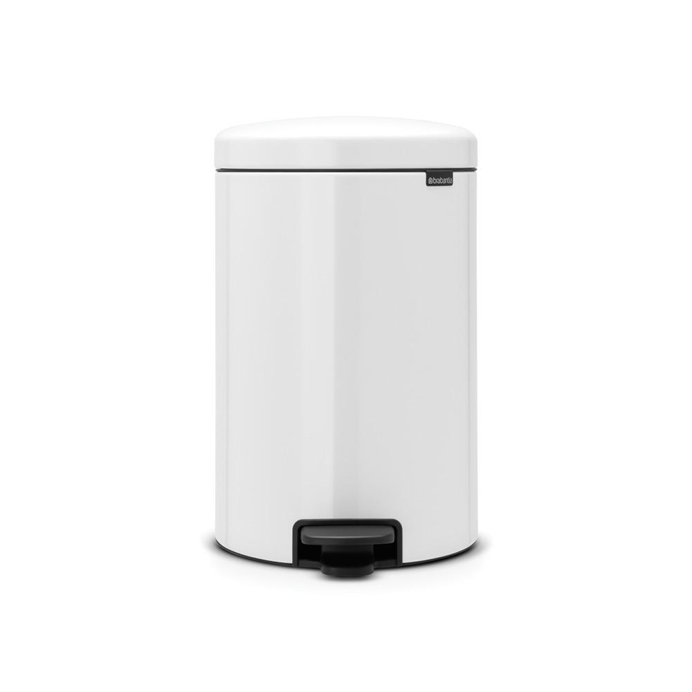 Brabantia 5 3 Gal White Steel Step On Trash Can