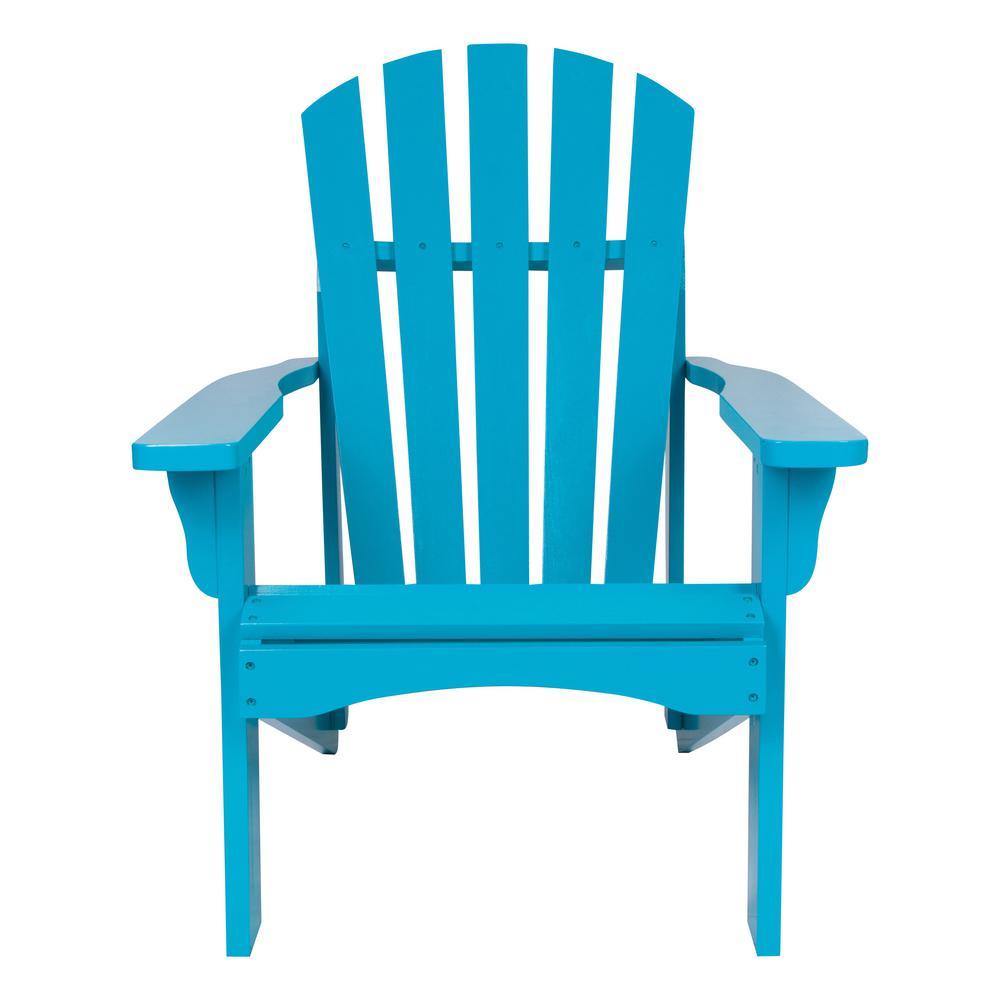 Rockport Turquoise Cedar Wood Adirondack Chair