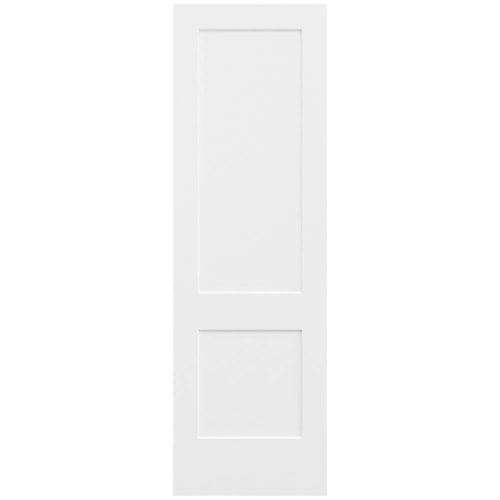 Jeld wen 32 in x 96 in monroe primed smooth solid core for Solid core mdf interior doors