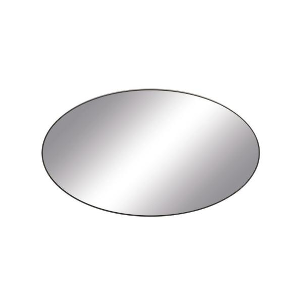 Medium Oval Black Modern Mirror (40 in. H x 24 in. W)