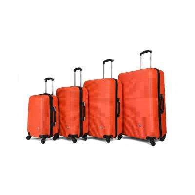 "Royal lightweight hardside spinner 4 piece Set 20"", 24'', 28"", 32"" Orange"