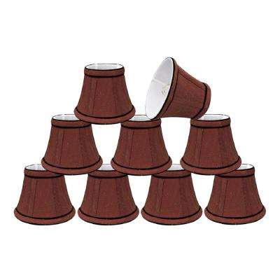 5 in. x 4 in. Rust and Black Accent Bell Lamp Shade (9-Pack)