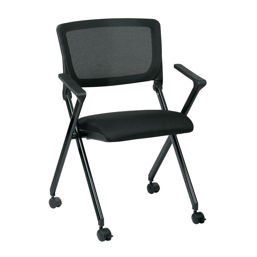 Internet 206451930 Work Smart Black Folding Chair