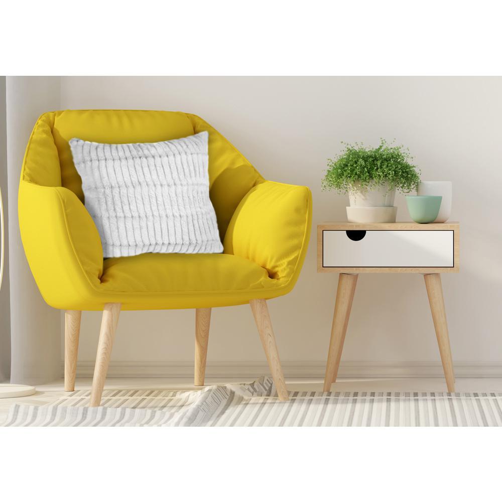 White Decorative Pillow Set : Home Dynamix White Striped Faux Fur Decorative Pillow (Set of 2)-702-451 - The Home Depot
