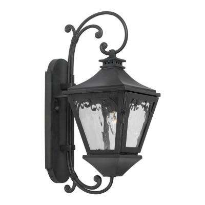 Manor 1-Light Wall Mount Outdoor Charcoal Sconce