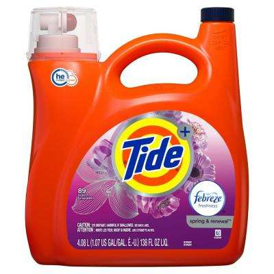 138 oz. Spring and Renewal High Efficiency Liquid Laundry Detergent with Febreze Freshness (72-Loads)
