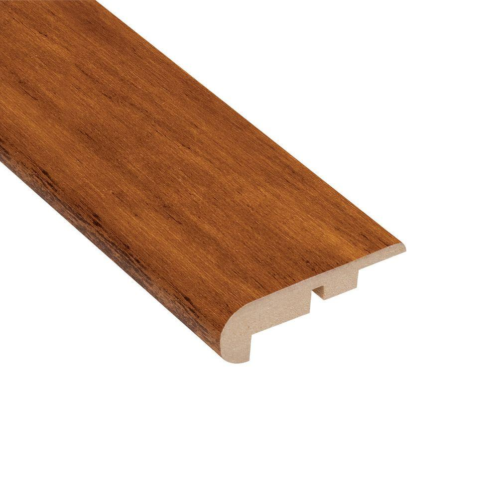 Home Legend High Gloss Distressed Maple Priya 7/16 in. Thick x 2-1/4 in. Wide x 94 in. Length Laminate Stairnose Molding