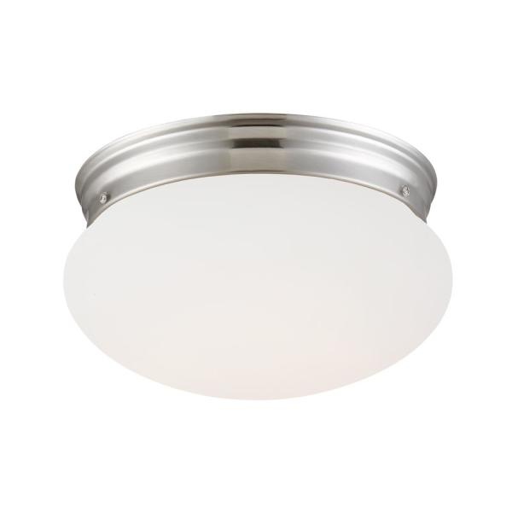 55-Watt Equivalent 9 in. Brushed Nickel Integrated LED Flush Mount