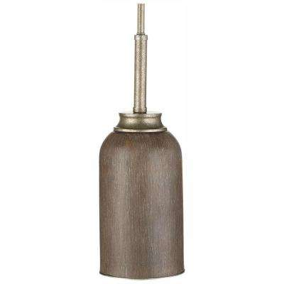 1-Light 9-Watt Gilded Pewter Integrated LED Mini Pendant
