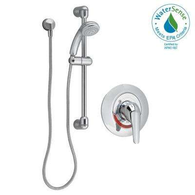 Commercial Water-Saving 36 in. Shower System with Hand Shower in Polished Chrome (Valve Included)