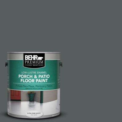 1 gal. #N500-6 Graphic Charcoal Low-Lustre Porch and Patio Floor Paint