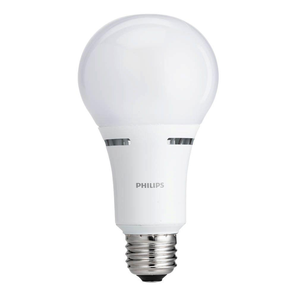 philips 50 100 150w equivalent soft white 3 way non dimmable a21 led light bulb 4 pack 465146. Black Bedroom Furniture Sets. Home Design Ideas
