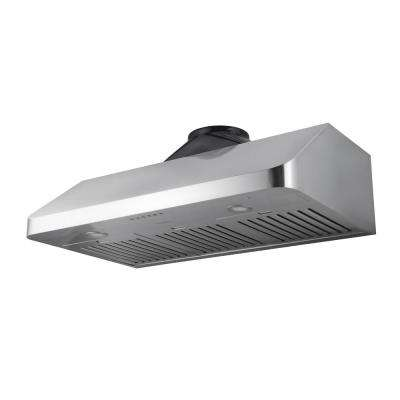 UCR636T Turbo Series 36 in. 1000 CFM Under Cabinet Range Hood with LED in Stainless Steel