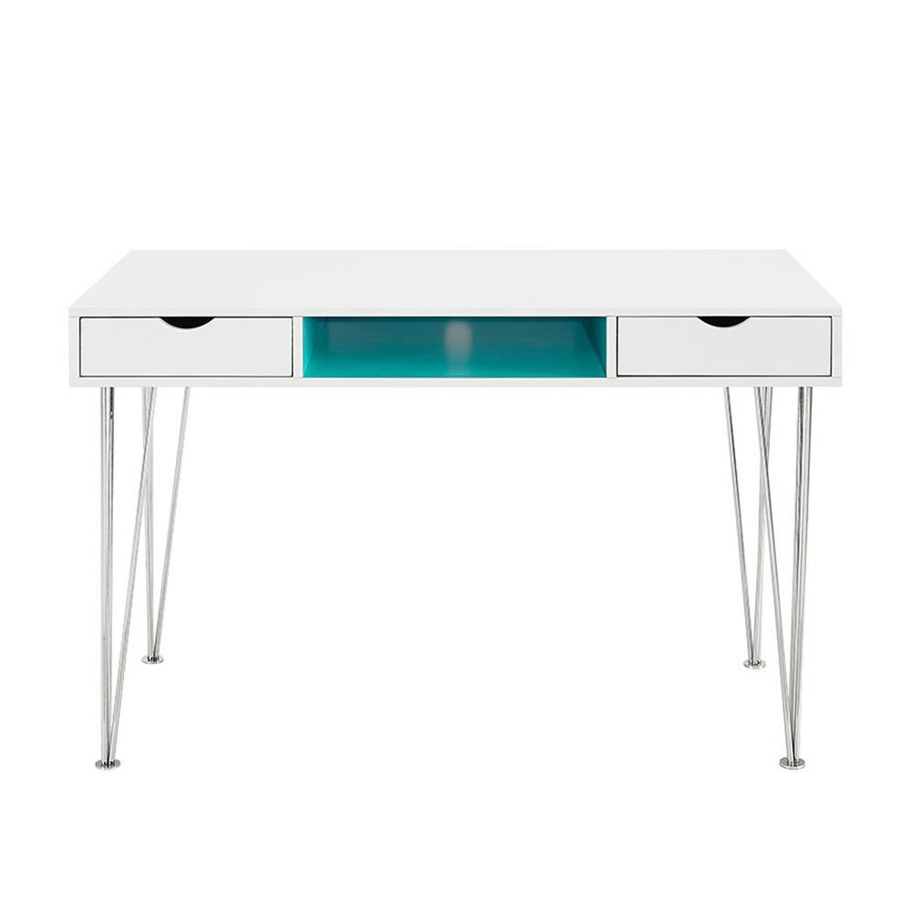 Aqua Blue Desk with Storage