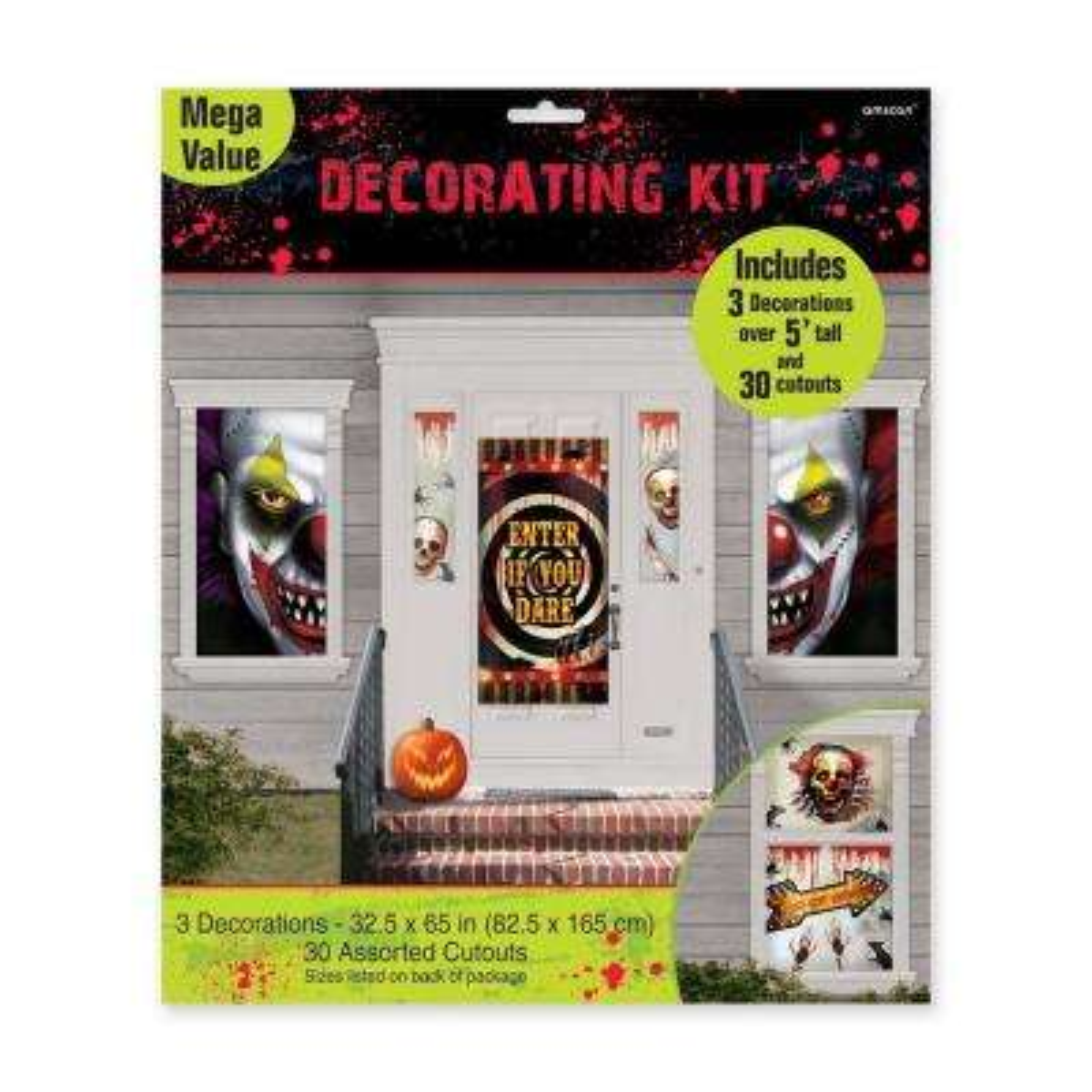 65 in. Halloween Creepy Carnival Scene Setter Mega Value Decorating Kit
