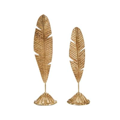 Gold Accent Feather Tabletop Decor (Set of 2)