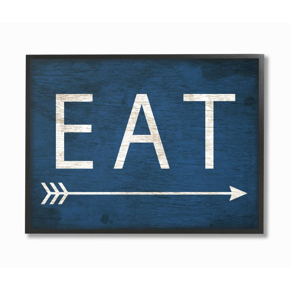 Eat With Arrow Blue  by Daphne Polselli  sc 1 st  The Home Depot & 16 in. x 20 in.
