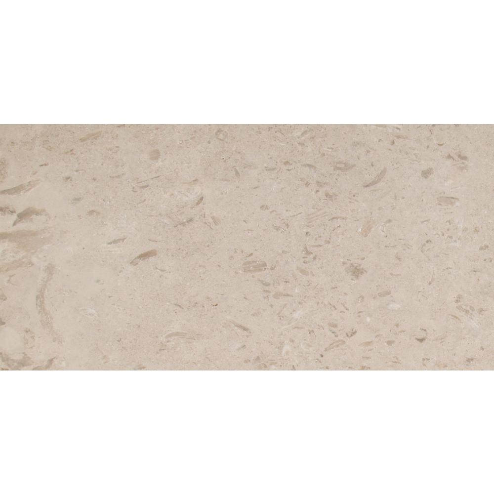 MSI Coastal Sand 12 in. x 24 in. Honed Limestone Floor and Wall Tile (10 sq. ft. / case)