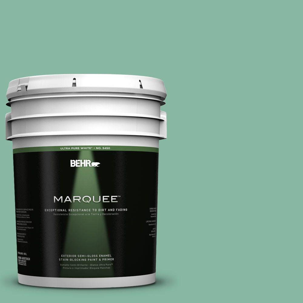 BEHR MARQUEE 5-gal. #480D-4 Indian Ocean Semi-Gloss Enamel Exterior Paint