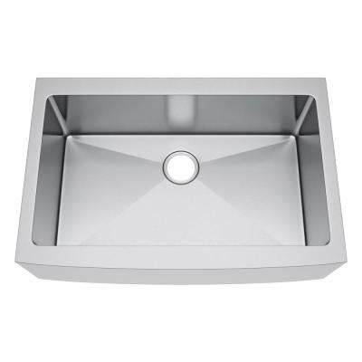 All-in-One Farmhouse Stainless Steel 33 in. Single Bowl Kitchen Sink
