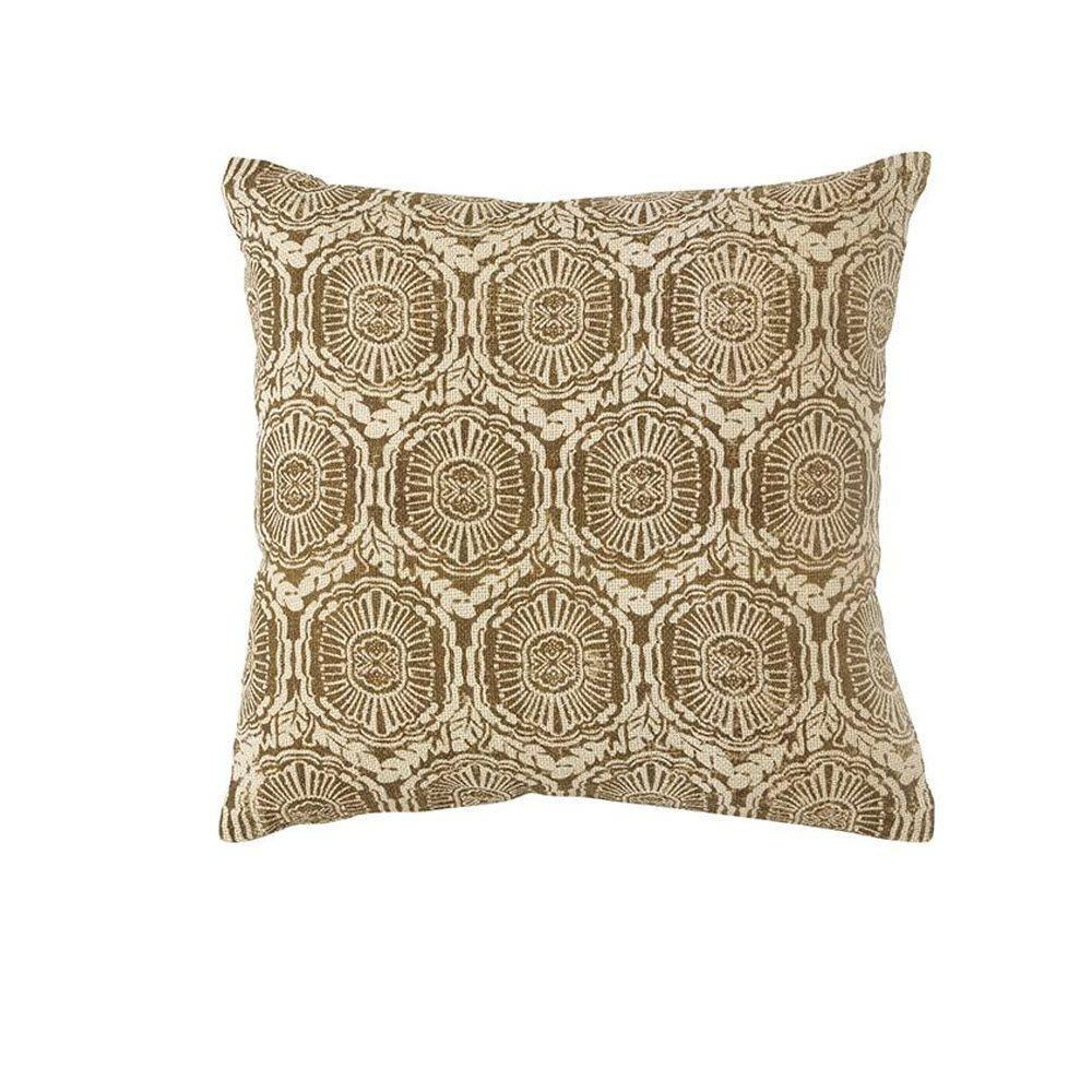 Home Decorators Collection Printed Tan Burlap Safari Pillow