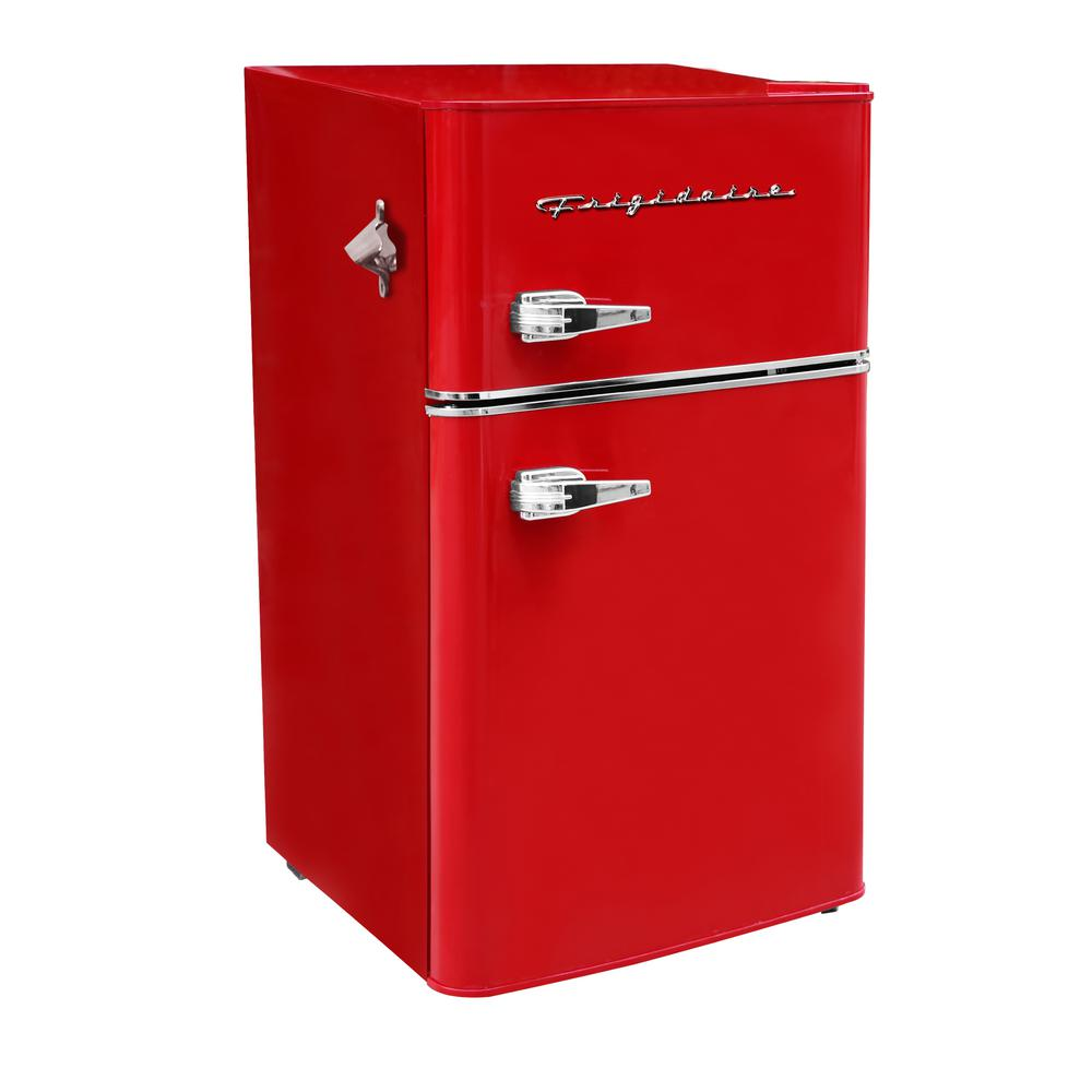 Frigidaire 3 2 Cu Ft 2 Door Retro Mini Fridge In Red Efr840 Red Com The Home Depot
