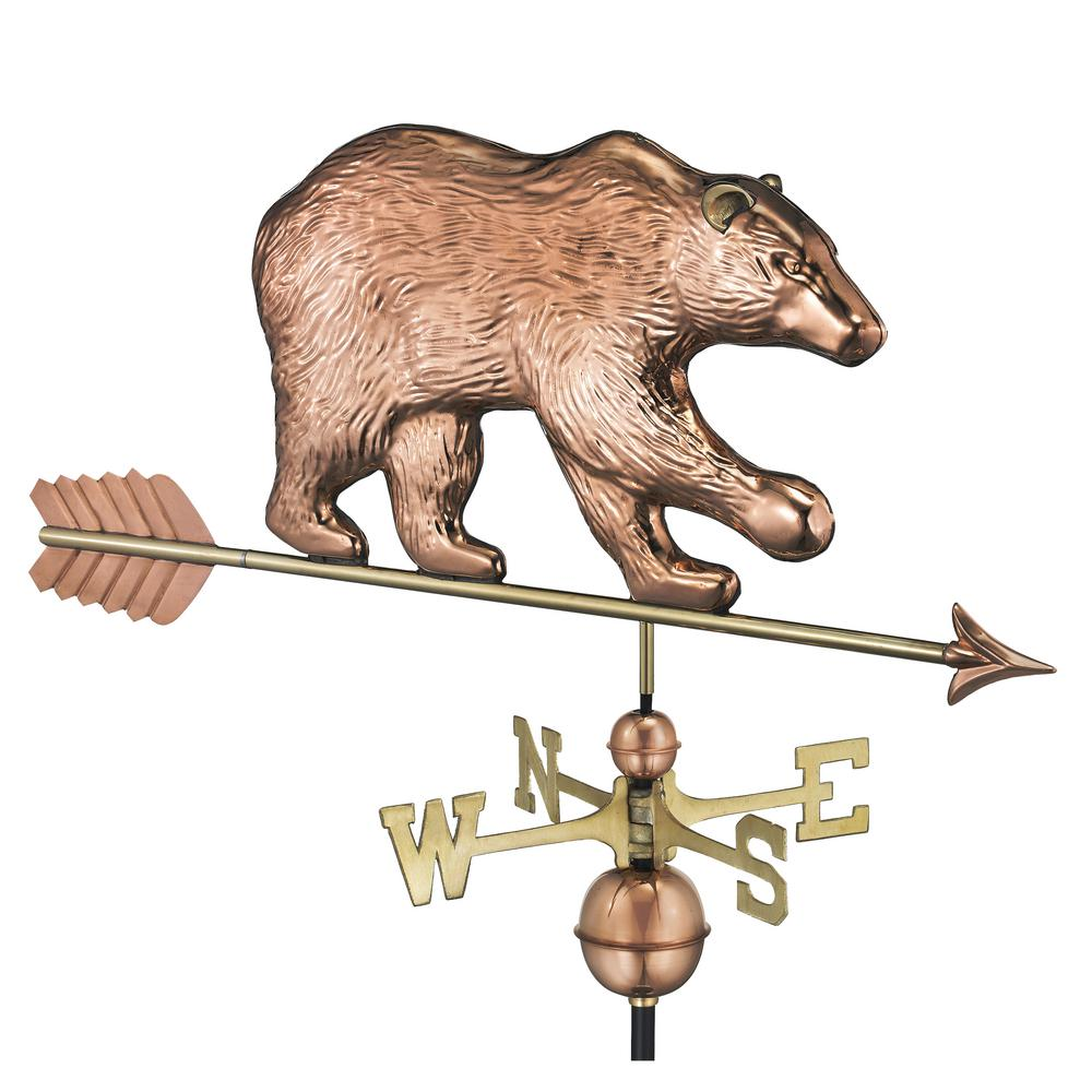 Bear Weathervane with Arrow - Pure Copper
