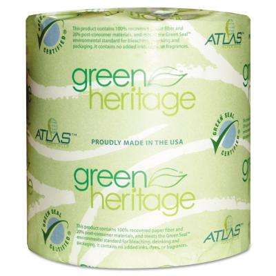 4.4 in. x 3.8 in. 1-Ply Green Heritage Professional Toilet Tissue (1000-Roll, 96-Roll/Carton)