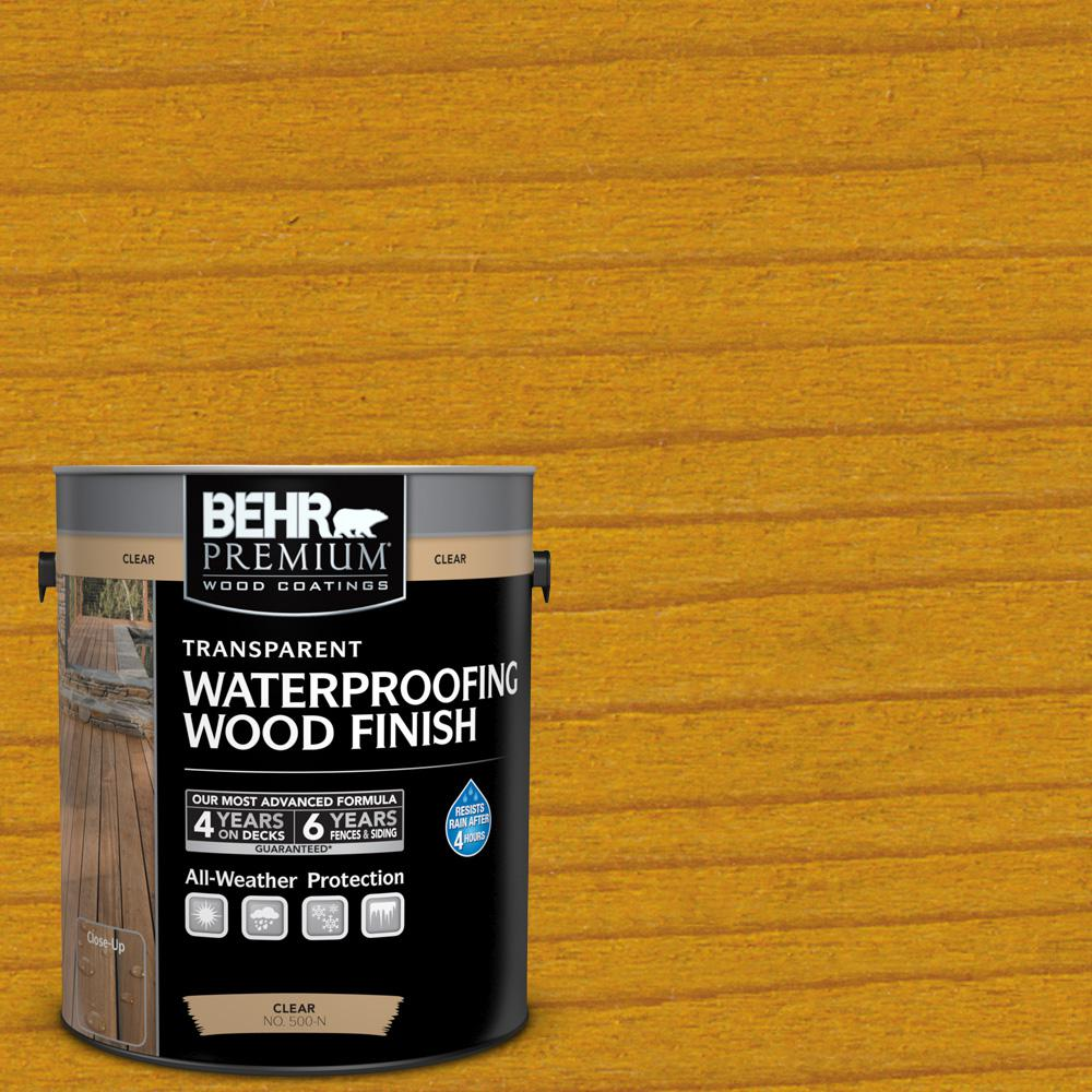 1 gal. #T-170 Golden Honey Transparent Waterproofing Wood Finish