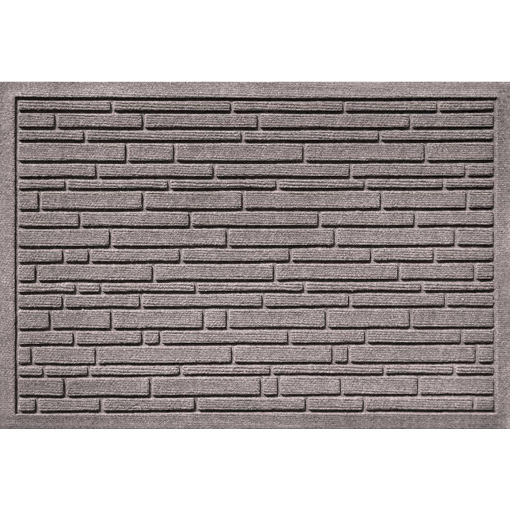 Aqua Shield Broken Brick Medium Grey 17.5 in. x 26.5 in.